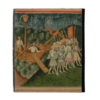 Harl 2278 f.98v The Arrival of King Sweyn and Dani iPad Folio Covers