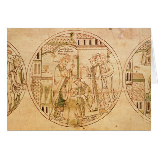 Harl. Roll Y.6 roundel 11 St. Guthlac is Ordained Greeting Card