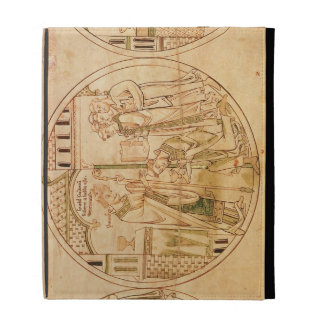 Harl. Roll Y.6 roundel 11 St. Guthlac is Ordained iPad Folio Case