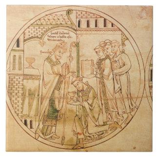 Harl. Se ordena el St. Guthlac del roundel 11 del  Tejas Ceramicas