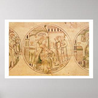 Harl. Se ordena el St. Guthlac del roundel 11 del  Impresiones