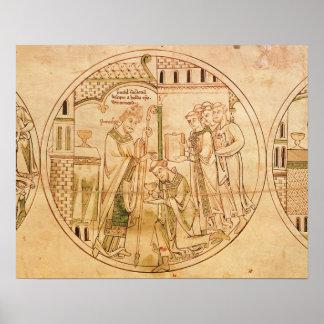 Harl. Se ordena el St. Guthlac del roundel 11 del  Posters