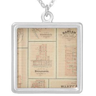 Harlan, Winterset, Exira, Milton, Oakfield Silver Plated Necklace