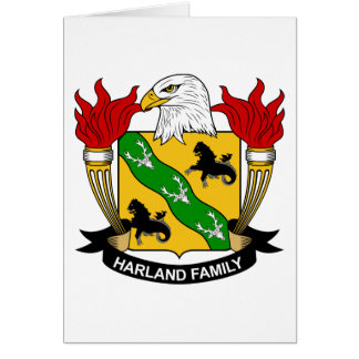 Harland Family Crest Greeting Card