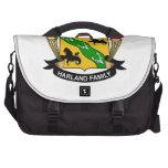 Harland Family Crest Laptop Messenger Bag