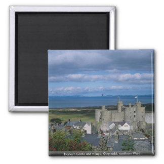 Harlech Castle and village, Gwynedd, northern Wale Magnet