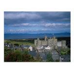 Harlech Castle and village, Gwynedd, northern Wale Postcard
