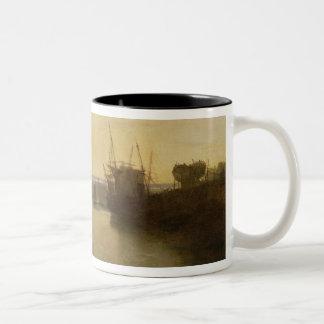 Harlech Castle, from Twgwyn Ferry, Summer's Evenin Two-Tone Coffee Mug