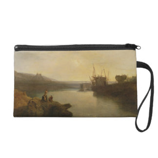 Harlech Castle, from Twgwyn Ferry, Summer's Evenin Wristlet Purse