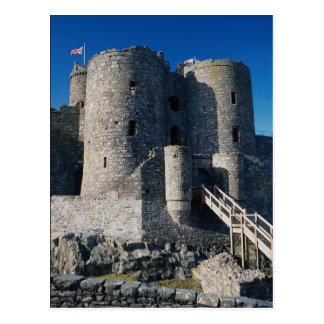 Harlech Castle, outer gate and gatehouse, northern Postcard