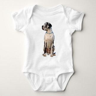 Harlekin Great Dane Baby Bodysuit