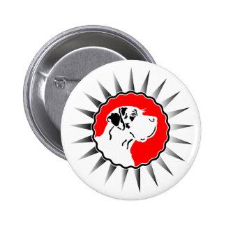 Harlekin Great Dane Button