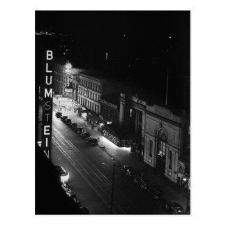 Harlem at Night, 1941 Postcard