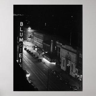 Harlem at Night, 1941 Print