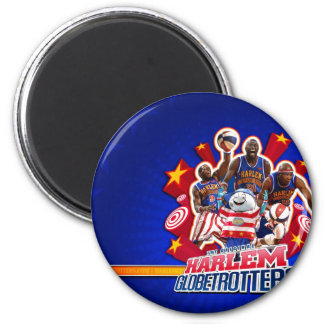 Harlem GlobeTrotter's Group Picture 2 Inch Round Magnet