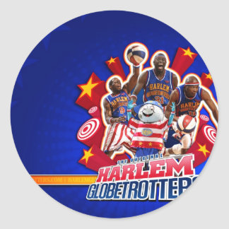 Harlem GlobeTrotter's Group Picture Round Stickers