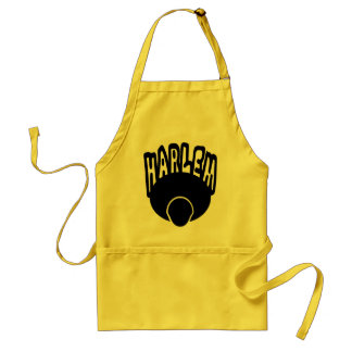 Harlem Graffiti Growing Out Of Big Afro With Face Adult Apron