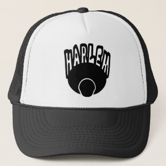 Harlem Graffiti Growing Out Of Big Afro With Face Trucker Hat
