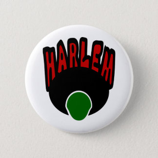 Harlem Graffiti With Face & Big Afro, 3 Colors Pinback Button
