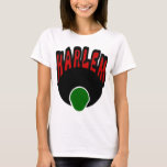 Harlem Graffiti With Face & Big Afro, 3 Colors T-Shirt