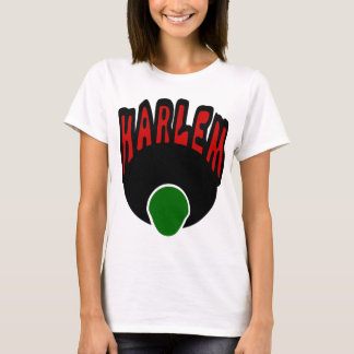 Harlem Graffiti With Face & Big Afro, 3 Colors T-Shirt