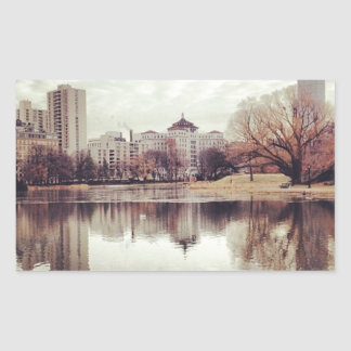Harlem Meer in NYC's Central Park Rectangular Sticker