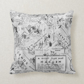 Harlem Night Club Throw Pillow