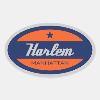 Harlem Oval Sticker