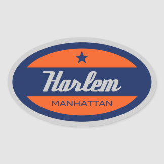 Harlem Oval Stickers