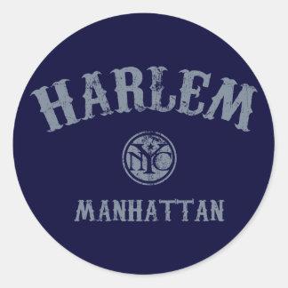 Harlem Pegatina Redonda