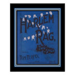 """Harlem Rag""  Vintage Two Step Sheet Music Poster"