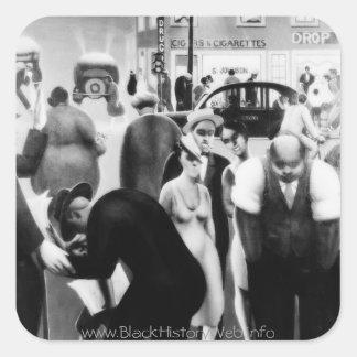 "Harlem Renaissance Art - ""Black Belt"" Square Sticker"