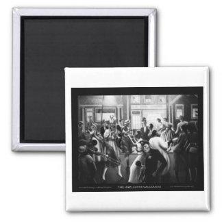 "Harlem Renaissance Art - ""Getting Religion"" 2 Inch Square Magnet"