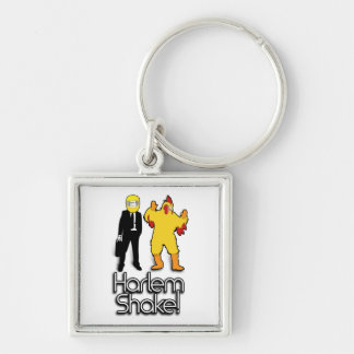 Harlem Shake Chicken & Helmet Man Internet Meme Keychain