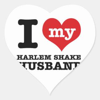 Harlem Shake dance husband Heart Sticker