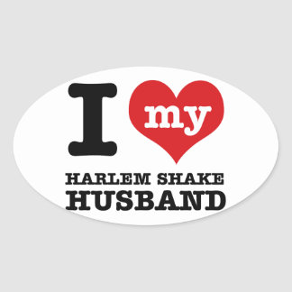Harlem Shake dance husband Oval Sticker