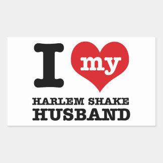 Harlem Shake dance husband Rectangular Sticker