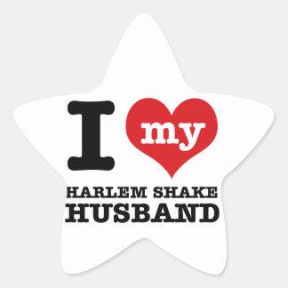 Harlem Shake dance husband Star Sticker