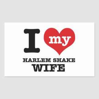 HARLEM SHAKE DESIGN RECTANGULAR STICKER