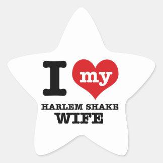 HARLEM SHAKE DESIGN STAR STICKER