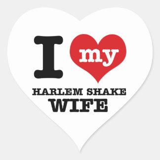 Harlem shake designs heart sticker