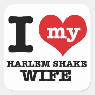 Harlem shake designs square sticker