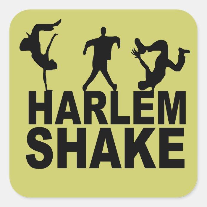 Harlem shake square sticker
