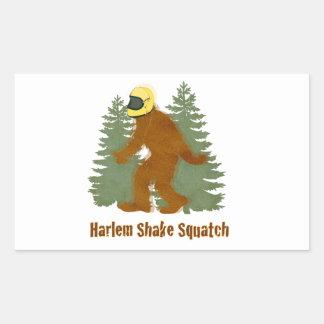 HARLEM SHAKE SQUATCH RECTANGULAR STICKER
