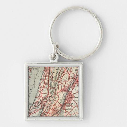 Harlem, Yonkers, Pelham Manor, New York Keychain
