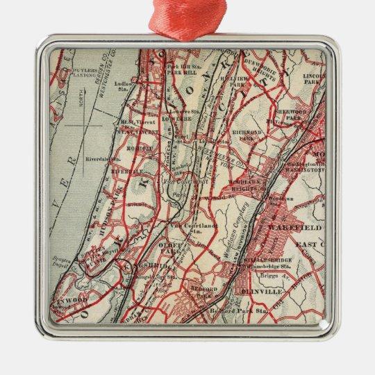 Harlem, Yonkers, Pelham Manor, New York Metal Ornament