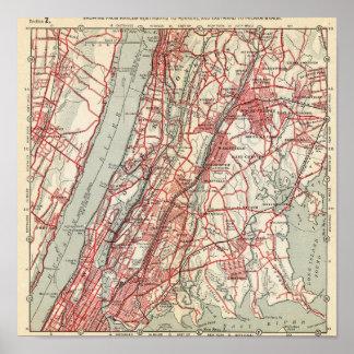Harlem, Yonkers, Pelham Manor, New York Print