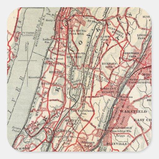 Harlem, Yonkers, Pelham Manor, New York Square Sticker