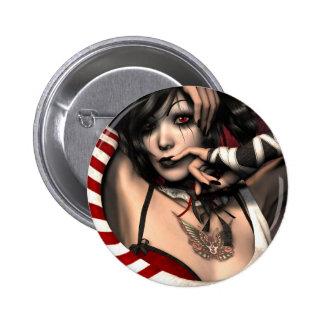 Harlequin 2 Inch Round Button