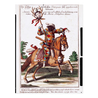 Harlequin a caballo postales